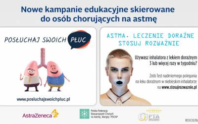 Nowe kampanie edukacyjne dla pacjentów z astmą